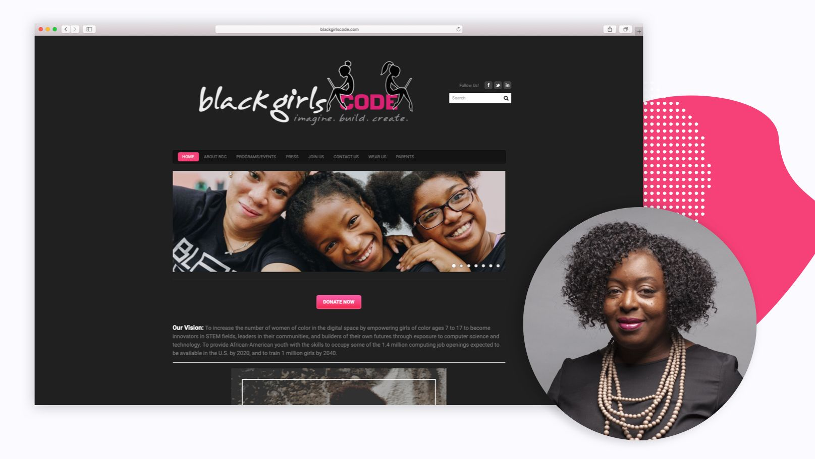Screenshot for Black Girls Code and Founder Kimberly Bryant