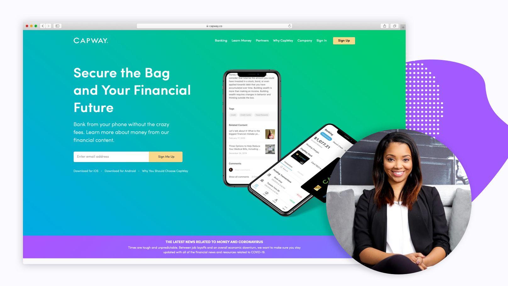 Capwap bank from your phone app screenshot