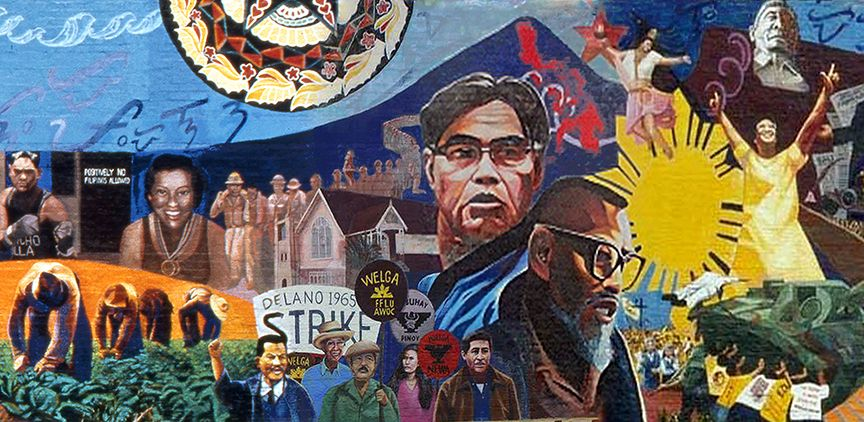 Image of the Filipino American mural in Unidad Park, Los Angeles
