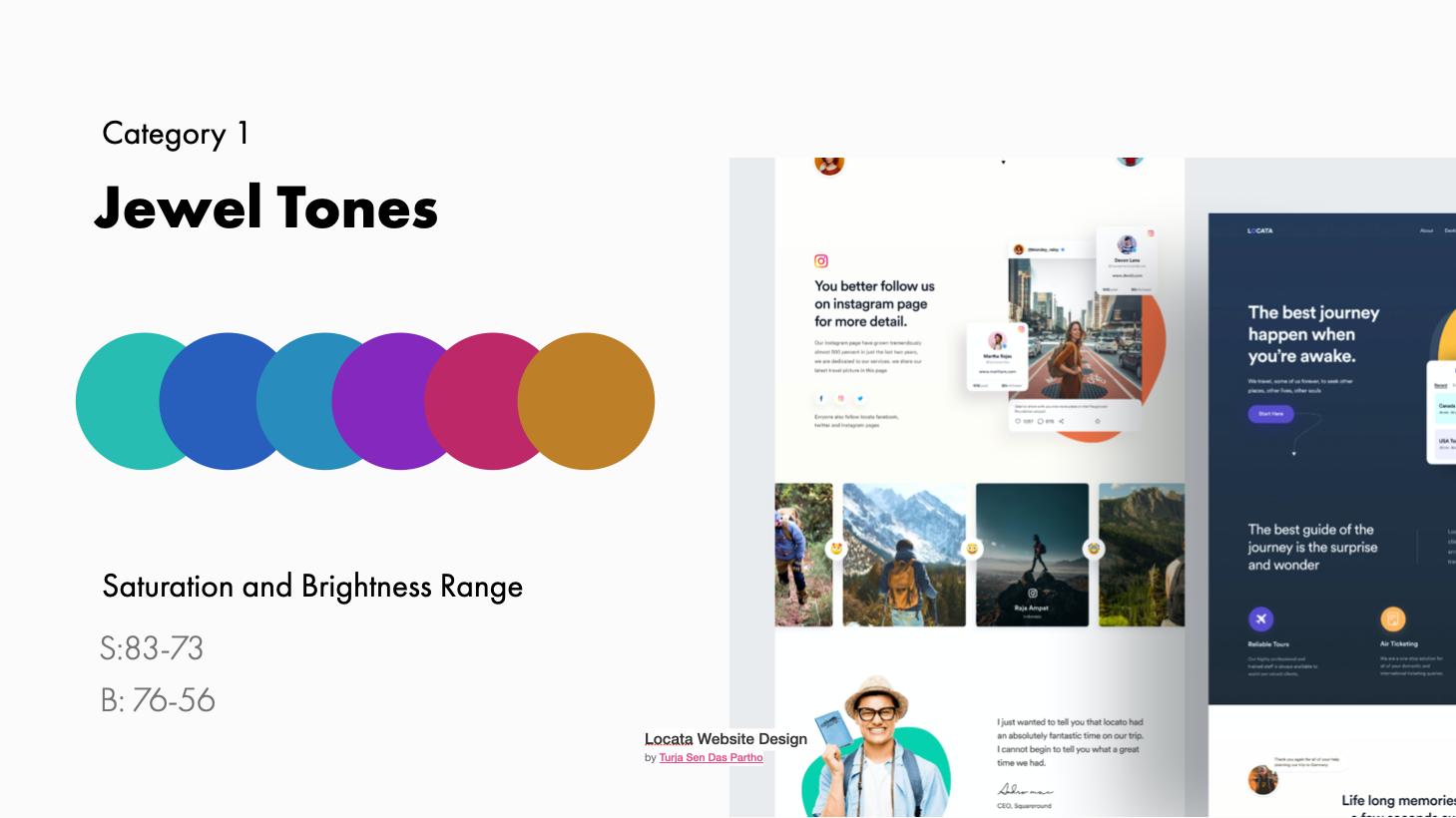 Jewel Tone examples and range | Locata Website Design by Turja Sen Das Partho