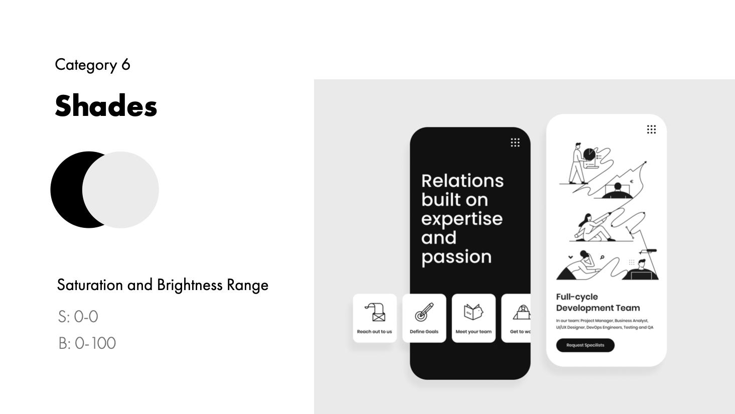 Shade examples and range | IT Website Concept by Maryna Gerdiy for QArea