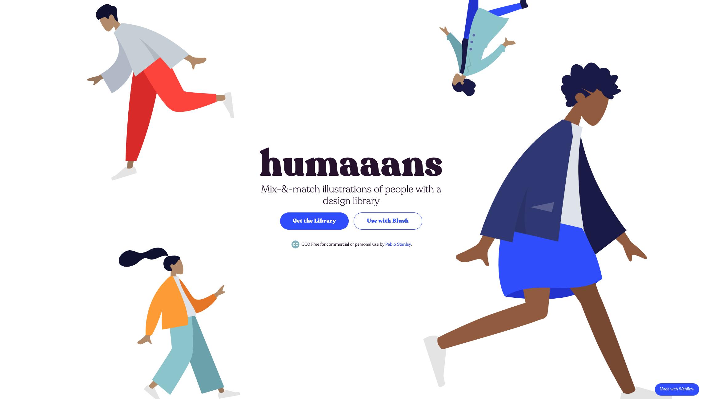 Humaaans by Pablo Stanley website