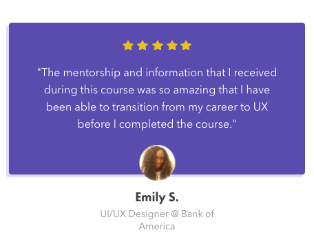 5 star review for DesignerUp's course