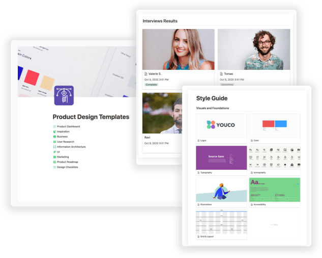 screenshots of DesignerUp learning management system